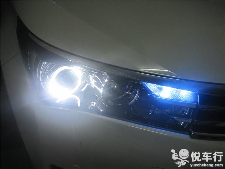 汉中卡罗拉改灯,悦车行15年6月29日改装丰田卡罗拉,正品q5透镜,汉雷