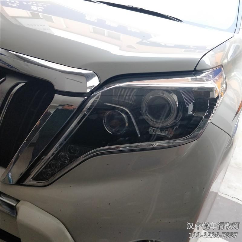 丰田霸道(普拉多)大灯改装双光透镜,升级氙气灯天使眼,灯光配置