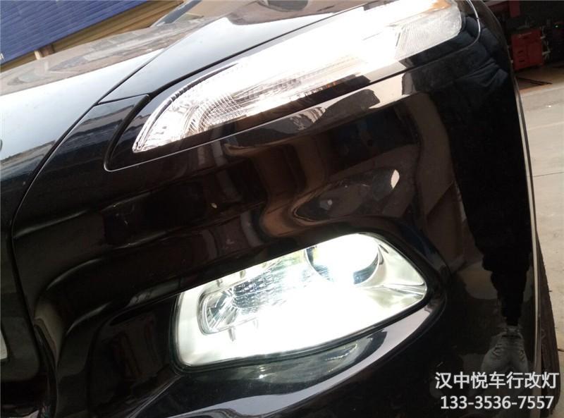 汉中自由光大灯升级  自由光改装透镜升级氙气灯