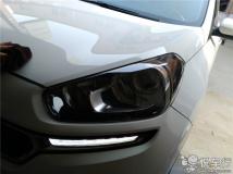 汉中KX3大灯改装,悦车行3月7日改起亚KX3车灯锐倍德N7透镜案例