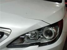 汉中标致408改灯 汉中悦车行8月20日改装新款标致408大灯国产海拉五透镜,加装天使眼