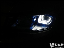 汉中CS75改灯,悦车行12月24日改装长安CS75车灯双光透镜氙气灯,加装天使眼案例