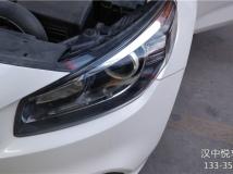 汉中悦车行2月3日改装起亚K4,原车单光透镜改装原装小糸,卤素灯升级欧司朗CBI套装