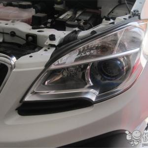 西乡汽车改装 西乡昂科拉改装汽车大灯Q5透镜加装恶魔眼