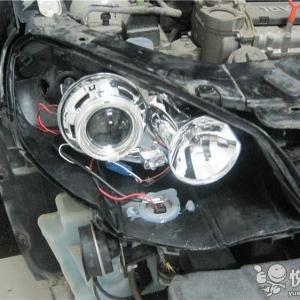 留坝汽车灯光升级 留坝朗逸灯光升级Q5透镜飞利浦氙气灯