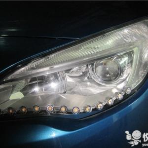 留坝汽车改装 留坝英朗改装汽车大灯Q5透镜升级氙气灯