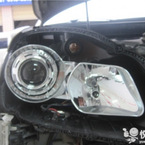 留坝大灯改装 留坝科雷傲改装大灯Q5透镜加装飞利浦氙气灯