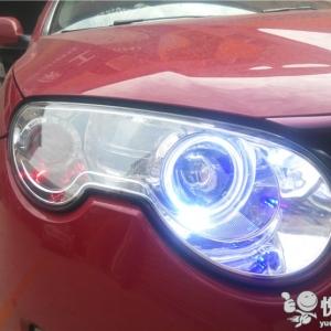 南郑汽车改装 南郑荣威550改装汽车大灯透镜天使眼