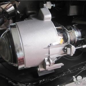 略阳车灯升级 略阳名图升级车灯Q5双光透镜改装氙气灯