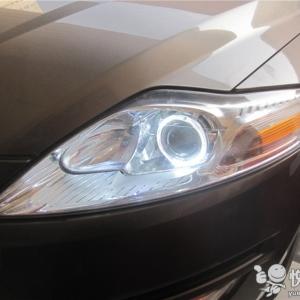 略阳汽车改装 略阳致胜改装Q5透镜加装天使眼日行灯