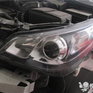 略阳改灯 略阳名爵5改装Q5双光透镜升级两近四远氙气灯