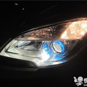 洋县汽车改装 洋县昂科拉改装汽车大灯Q5双光透镜升级氙气灯 ... ...