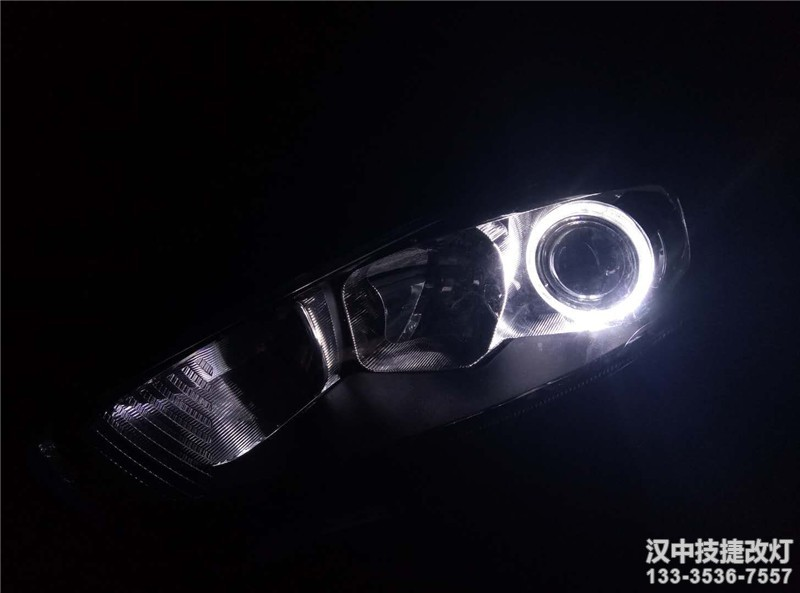 汉中嘉年华改装车灯Q5透镜锐倍德氙气灯天使眼