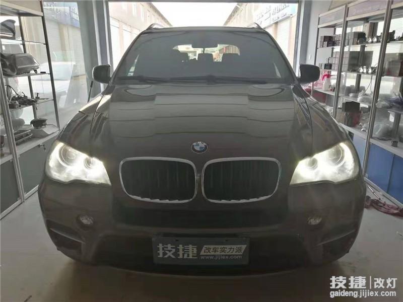 汉中技捷改灯:宝马X5改装LED双光透镜汽车大灯图片及视频