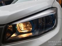 长安CS75大灯升级,汉中悦车行改CS75车灯畅行CX1双光透镜,升级氙气灯