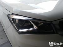 汉中技捷改装长安CS55汽车大灯透镜,升级氙气灯