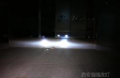 西安改车灯 西安瑞拉改装奥迪原装透镜汉雷氙气灯加天使眼