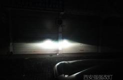 西安车灯改装 西安道奇酷威改Q5透镜白色天使眼LED双色泪眼
