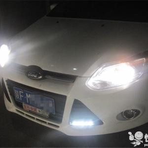 留坝车灯改装 留坝新福克斯改装套件双光透镜升级氙气灯