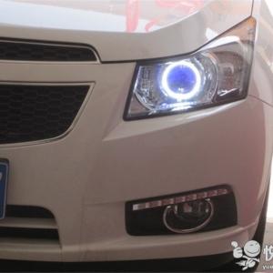 留坝大灯改装 留坝科鲁兹改装汽车大灯Q5透镜飞利浦氙气灯