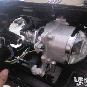 佛坪汽车改装 佛坪IX45改装车灯海拉透镜升级两近四远