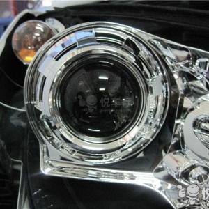 洋县汽车改灯 洋县标致308改装双光透镜升级天使眼大灯