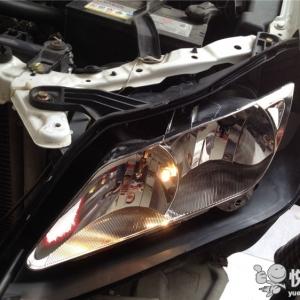 宁强汽车改灯 宁强比亚迪L3改装双光透镜升级天使眼大灯