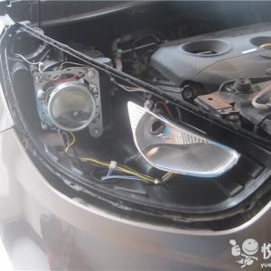 勉县车灯升级 勉县15款IX35升级车灯Q5双光透镜汉雷氙气灯