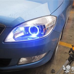 勉县改装大灯 勉县晶锐改装汽车大灯Q5双光透镜升级天使眼